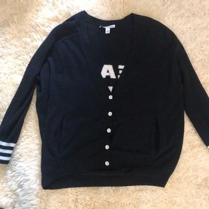 Autumn Cashmere Tops - Autumn cashmere Peace Love Rock Boyfriend cardigan